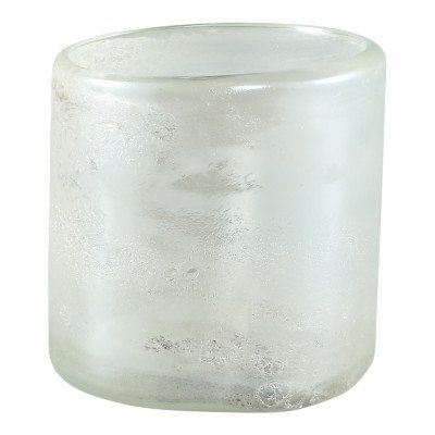 Ptmd tuxx wit mat glass vase round small m