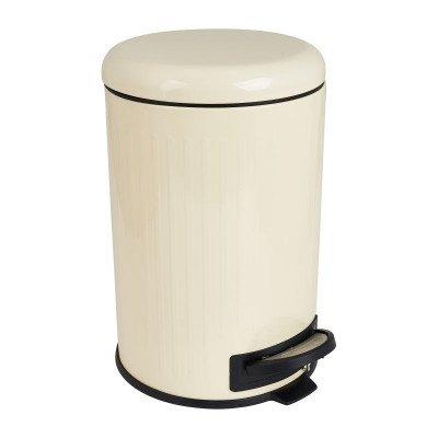 Xenos Pedaalemmer retro - wit - 12 liter