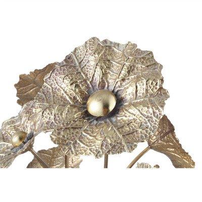 Firawonen.nl PTMD Julina Gold metalen bloem tafellamp rond