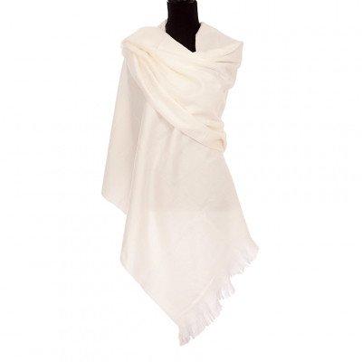 EcuaFina Alpaca sjaal of omslagdoek - Wit - EcuaFina - Tip2021