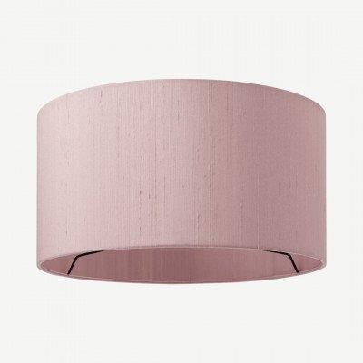 MADE.COM Idris Silk Lamp Shade 30 D x 16 H, Pink