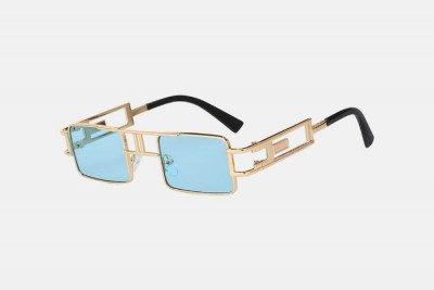Blank-Sunglasses NL BENJI - Gold with blue