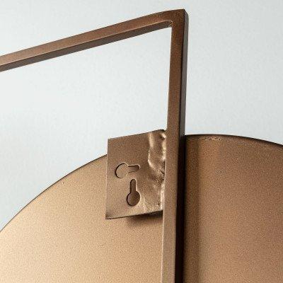 Kave Home Kave Home Spiegel 'Platte' 83 x 81cm, kleur Koper