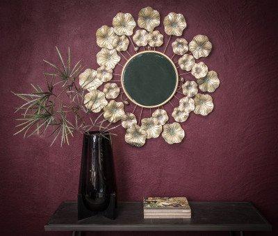 Firawonen.nl PTMD melia antiek goud spiegel van metaal met bloe