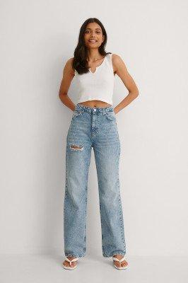 Trendyol Trendyol Jeans Met Hoge Taille - Blue