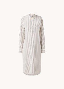 TEKLA TEKLA Nachthemd met borstzak van biologisch katoen