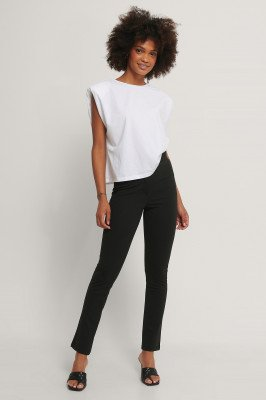 NA-KD Classic Jersey Pantalon - Black