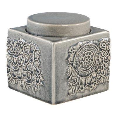 Firawonen.nl Ptmd lyme groen keramiek pot met dop vierkant l