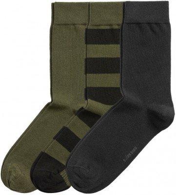 Bjorn Borg Bjorn Borg Core 3-Pack Sokken Groen Zwart
