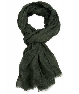 Profuomo Profuomo heren groene linnen sjaal