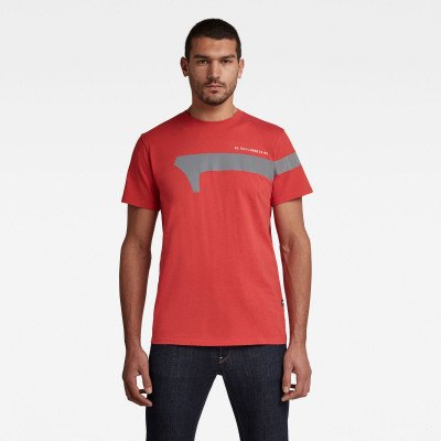 G-Star RAW 1 Reflective Graphic T-Shirt - Rood - Heren