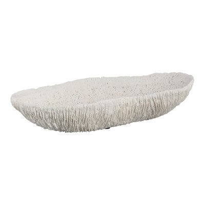 Firawonen.nl PTMD Coral Wave White poly bowl coral boatshape S