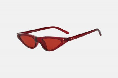 Blank-Sunglasses NL NOTCHY. - Red with red