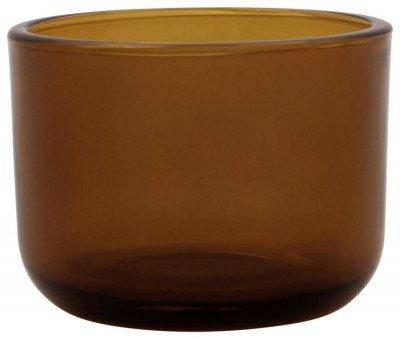 HEMA HEMA Sfeerlichthouder Ø7.3x5.5 Glas Bruin
