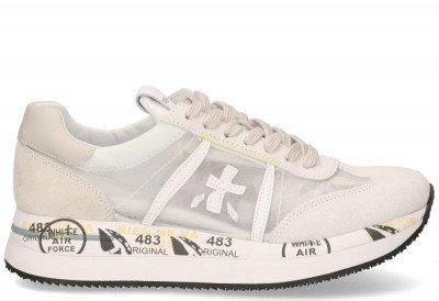 Premiata Premiata Conny 5251 Wit/Beige Damessneakers