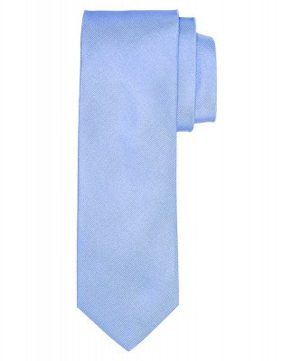 Profuomo Profuomo heren blauw ribs zijden stropdas