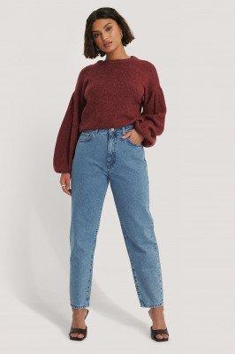 NA-KD Reborn NA-KD Reborn Organisch Mom-jeans Met Losse Pasvorm - Blue