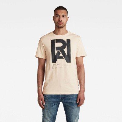 G-Star RAW Graphic RAW T-Shirt - Beige - Heren