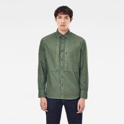 G-Star RAW Panelled Pocket Slim Shirt - Groen - Heren