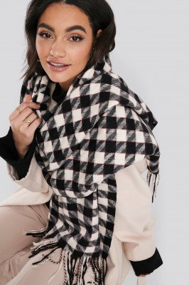 NA-KD Accessories NA-KD Accessories Big Dogtooth Patterned Soft Scarf - Multicolor