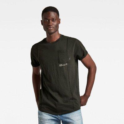 G-Star RAW Lash Pocket Back Graphic T-Shirt - Grijs - Heren