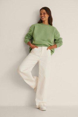 NA-KD Basic NA-KD Basic Organisch oversized sweater - Green