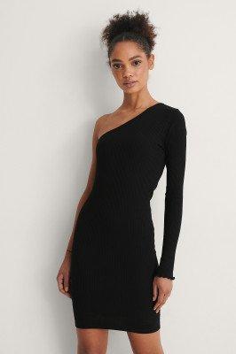 NA-KD NA-KD Organisch Mini-jurk Met Blote Schouder - Black