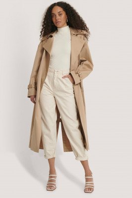 MANGO Oversized Jeans Met Hoge Taille - Offwhite