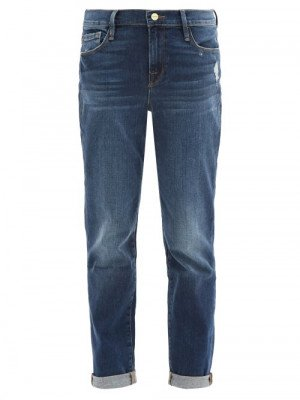 Frame - Le Garcon Cropped Jeans - Womens - Denim