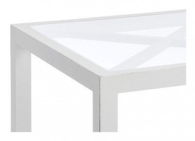 J-Line J-Line Bijzettafel 'Florentine' kleur Wit, 50 x 50cm