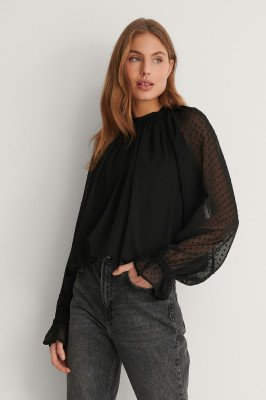 NA-KD NA-KD Volumineus Blouse - Black