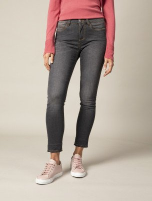 Cavallaro Napoli Cavallaro Napoli Dames Jeans - Sicilia Denim Jeans - Grijs Melange
