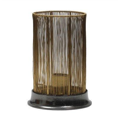 Firawonen.nl PTMD dalary goud ijzer tafellamp glanzend zwart
