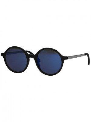 Komono Komono Madison Metal Black Silver Sunglasses zwart