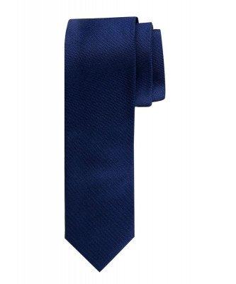 Profuomo Profuomo heren navy oxford smalle zijden stropdas