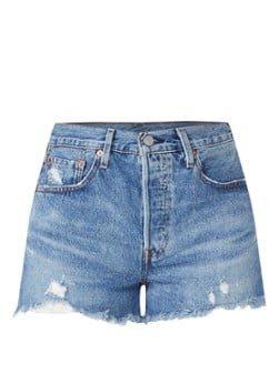 Levi's Levi's 501 High waist jeans shorts met gerafelde zoom