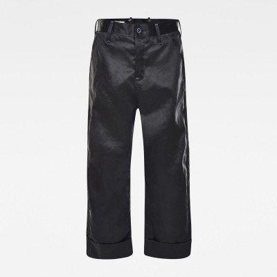 G-Star RAW GSRR Eve 3D Mid Wide leg Jeans - Zwart - Dames