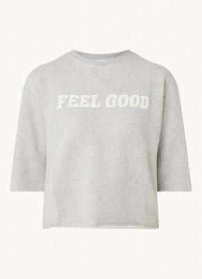 BAenSH ba&sh Felixe sweater met tekstprint