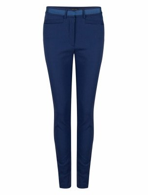 Cavallaro Napoli Cavallaro Napoli Dames Broek - Nozza Slim Pants - Kobalt