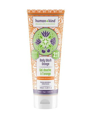 Human+Kind Human+Kind - All-in-One Shampoo+Body Wash Orange - 250 ml