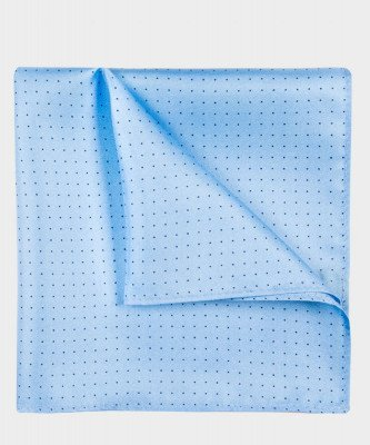 Michaelis Michaelis heren geprint zijden pochet blauw