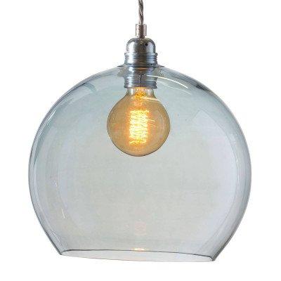 Ebb en Flow EBB & FLOW Rowan hanglamp, blauw-zilver Ø 28cm