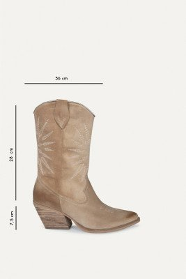Shoecolate Shoecolate Cowboylaarzen Hak Beige 8.11.08.098