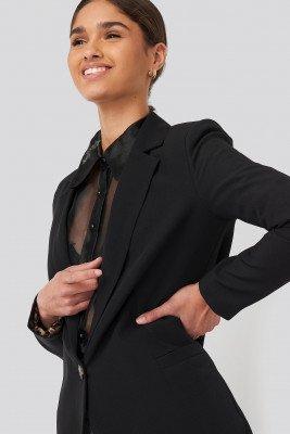 Trendyol Trendyol Leopard Lining Detailed Jacket - Black