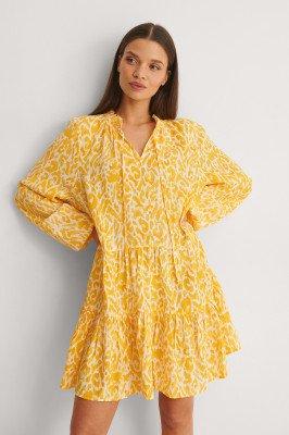 NA-KD NA-KD Mini-Jurk - Yellow