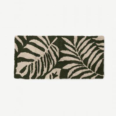 MADE.COM Rocoto badmat van 100% katoen, extra lang, groen