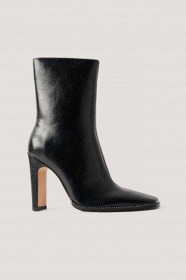 NA-KD Shoes NA-KD Shoes Laarzen Met Hoge Hakken En Steentjes - Black