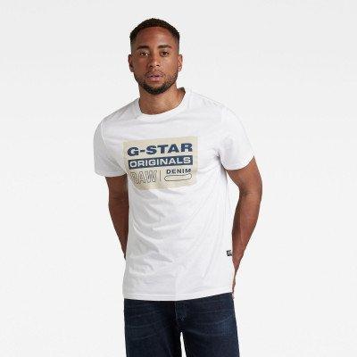 G-Star RAW Originals Logo T-shirt - Wit - Heren
