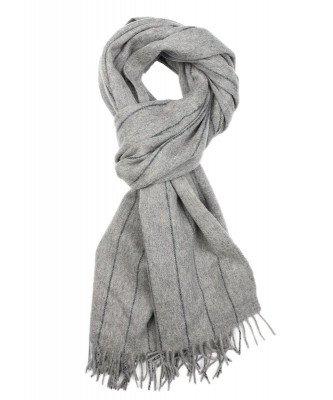 Profuomo Profuomo heren grijs oversized wollen sjaal