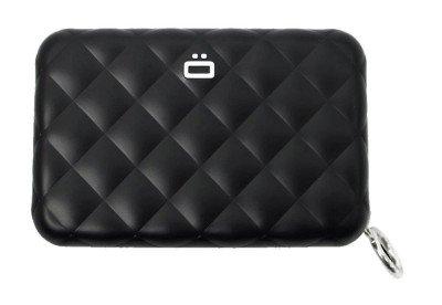 Ogon Designs Ogon Dames Creditcardhouder Quilted Zipper Black